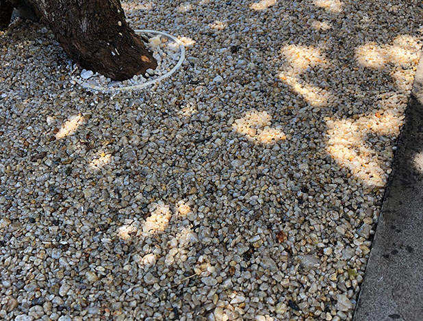 Once the Resin Bound Aggregate was laid